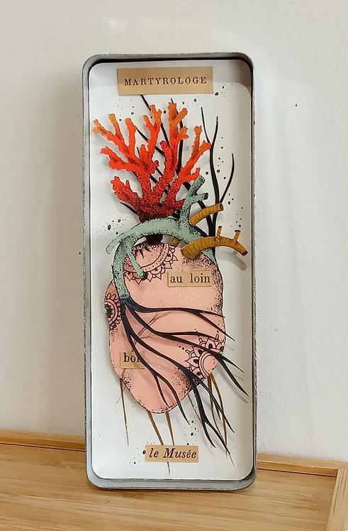 Coeur en papier découpé de Céline Chevrel