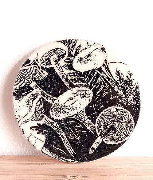 "Broche faïence ""champignons"" de Stéphanie Cahorel"