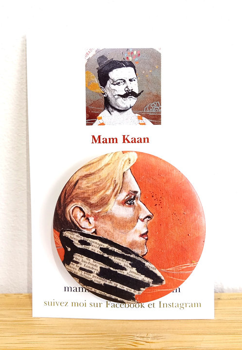 "Badge ""David Bowie"" Mam Kaan"