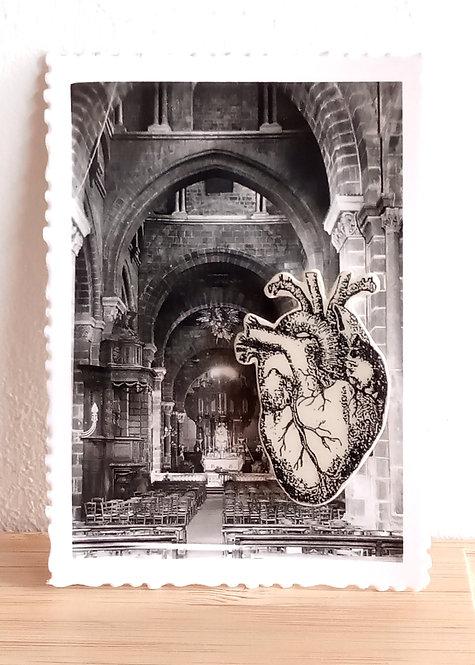 "Broche faïence ""Coeur"" de Stéphanie Cahorel"