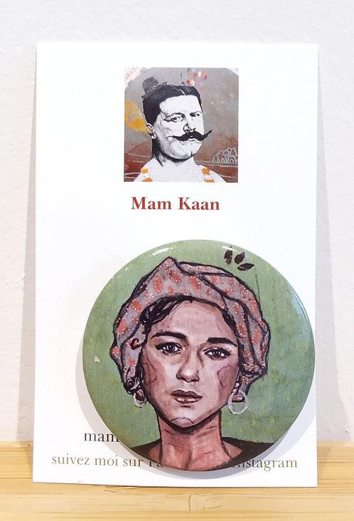 """Badge """"Femme au turban"""" Mam Kaan"""