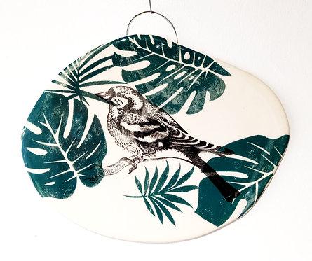 Tableau en faïence oiseau La Céramique de Flo
