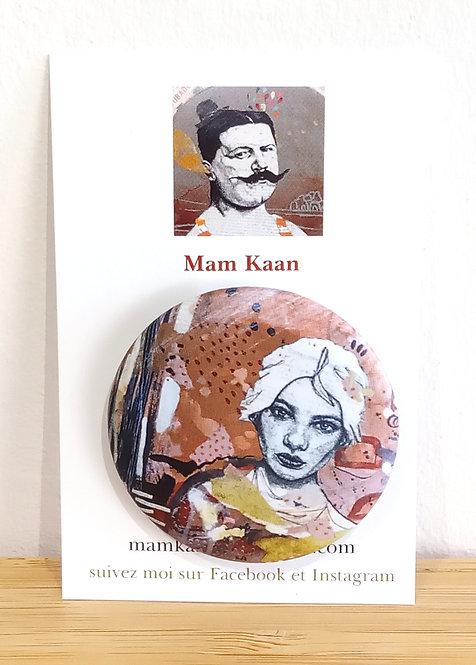 "Badge ""Portrait"" Mam Kaan"