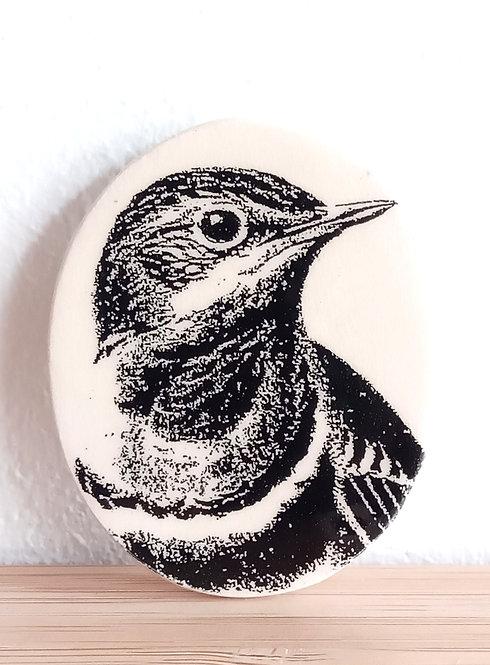 "Broche faïence ""oiseau"" de Stéphanie Cahorel"