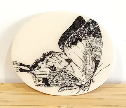 Broche faïence motif papillon Stéphanie Cahorel