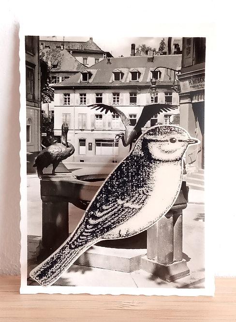 Broche faïence Oiseau Stéphanie Cahorel