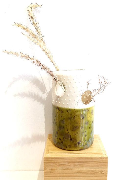 Soliflore à trous GM vert olive de Florence Sempé