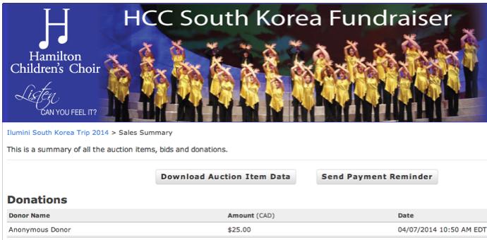 HCC Online Auction - Hamilton