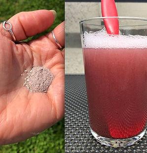 TRUU powder to foam shampoo hibiscus