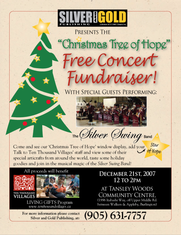 Tree of Hope Fundraising Poster