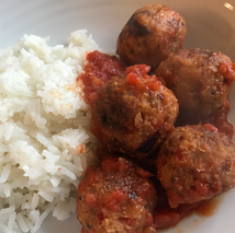 Silver and gold meatless quinoa meat bal
