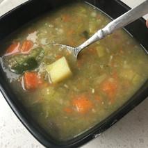 smooth leek potato soup vegetables silve
