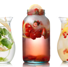 herb infusion drinks silver and gold