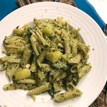 fresh easy pesto pasta spinach