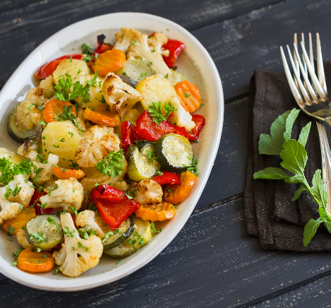 silver and gold roasted vegetables recip