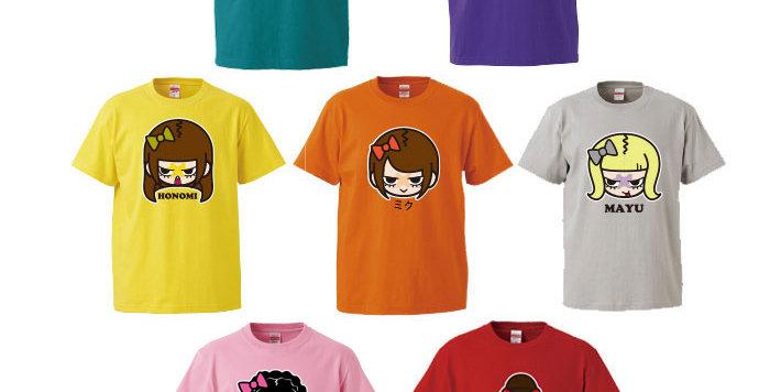 【Chu-Z】メンバー個別似顔絵Tシャツ