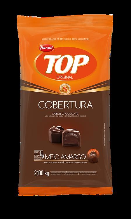 Cobertura Fracionada em Gotas Top Harald Chocolate Meio Amargo 2,100 kg