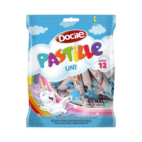 Pastilha Pastille Mini Unicórnio 12 unidades de 100g Docile