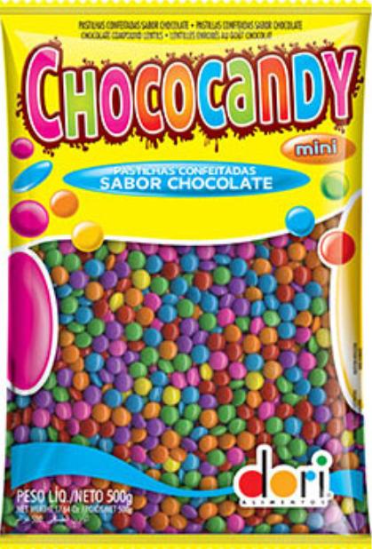Confeito Choco Candy Colorido 500g - Dori
