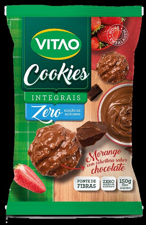 Cookies Integrais Zero Adição de Açúcares de Morango com Cobertura de Chocolate