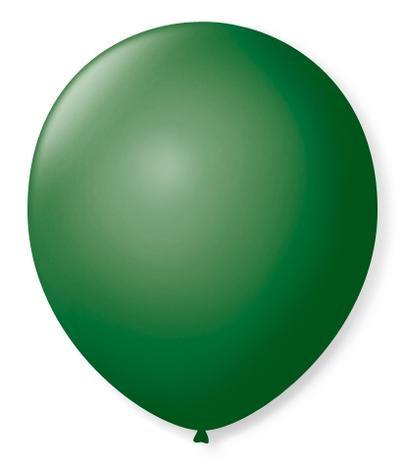 Balão  N°9 Verda- Pacote com 50un - Balões São Roque