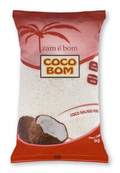 Coco Ralado Puro sem Açúcar 1Kg - Zam é Bom