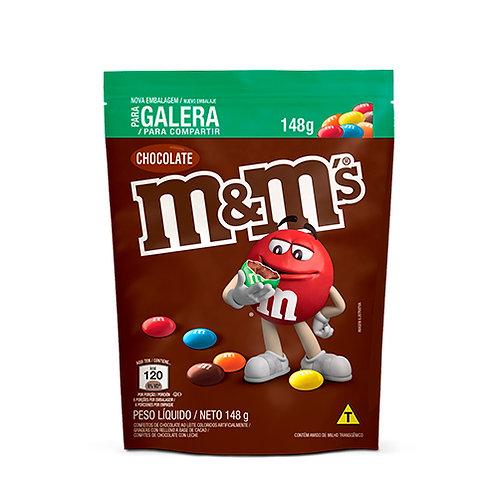 Confeito de Chocolate Ao Leite M&M's Pouch 148g