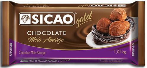 Chocolate Meio Amargo Gold Blocos 1,01Kg - Sicao