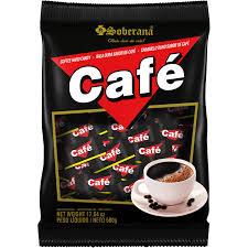 Balas Café Mastigável 500g Soberana
