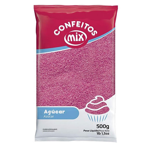 Açúcar Cristal Mix Rosa 500g