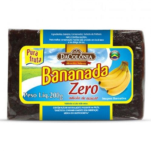 Bananada Light 200g zero açúcar DaColônia