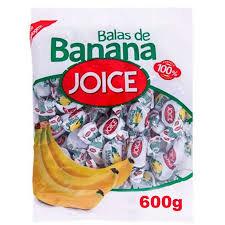 Balas de Banana Joice 600g