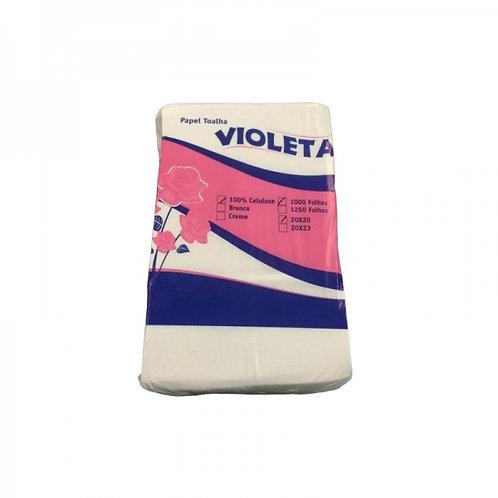 Papel Toalha Interfolhado Violeta 100% Celulose com 1000 un