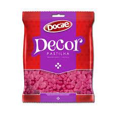 Pastilha Decor Coração Rosa 250g Docile
