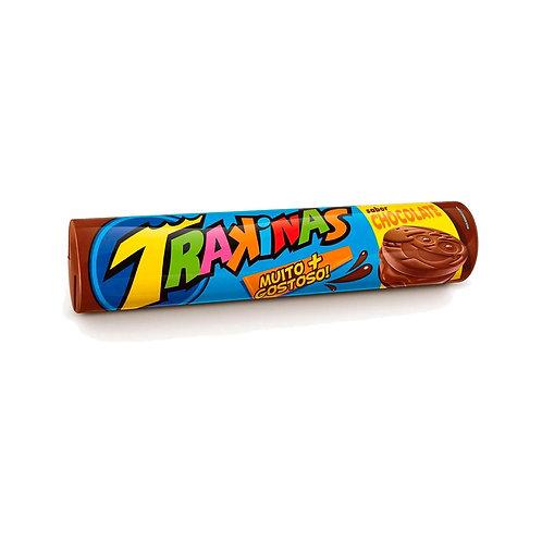 Bolacha Recheada Trakinas sabor Chocolate 126g