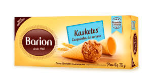 Kaskete Casquinhas de Sorvete 75g Display com 18un Barion