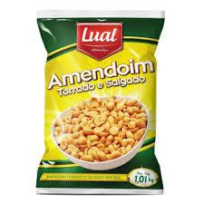 Amendoim Torrado e Salgado Lual 1,01kg