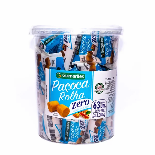 Paçoca Rolha Zero Açúcar  1,08kg Guimarães