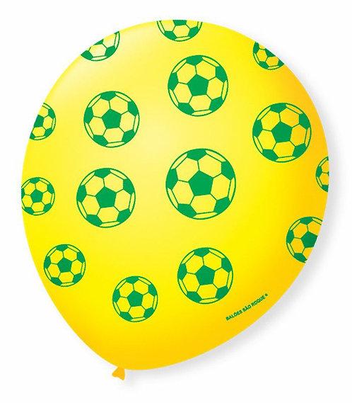 Balão  N°9 Tema: Torcida Futebol  - Pacote com 25un - Balões São Roque