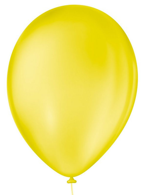 Balão N°7 Amarelo Citrino - Pacote com 50un -  Balões São Roque