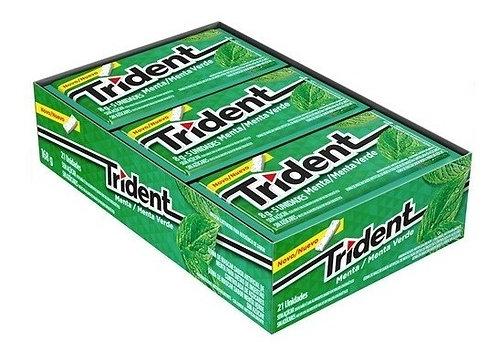 Trident Menta/Menta Verde Display com 21 un