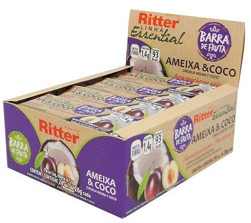 Barra de Fruta Ritter Ameixa & Coco com 24un de 28g
