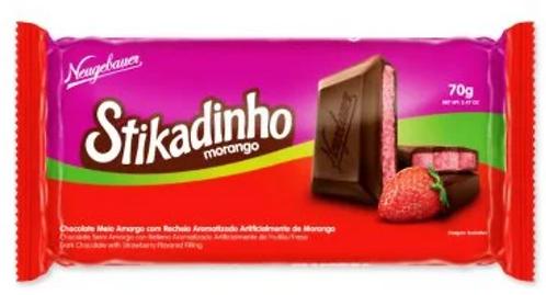 Chocolate Stikadinho em barra 70g - Display com 12un