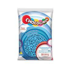 Chocogiros Mini Pastilha Confeitada Sabor Chocolate Azul 300g Mavalério