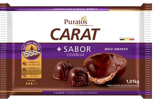 Cobertura Fracionada em barra Carat sabor Coverlux Meio Amargo 1.01kg