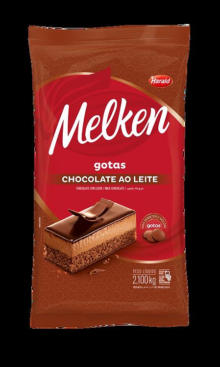 Chocolate em gotas Ao Leite Melken Harald 2,100kg