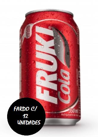 Fruki Cola lata 350ml - Fardo com 12 unidades