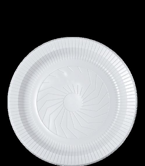 Prato plástico 23cm Fundo Branco - PR23-BR - Cristalcopo - Pacote com 10 unid.