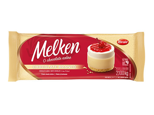 Chocolate em Barra Branco Melken 2,100Kg. - Harald