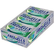 Chicle Freegells Gum Original Mint Display com 15 un Riclan